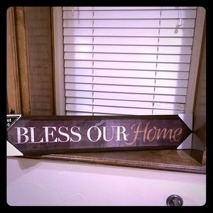 "ADORABLE ""bless our home"" framed art work!"